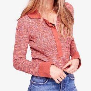 Free People Making Memories Henley Sweater Size L